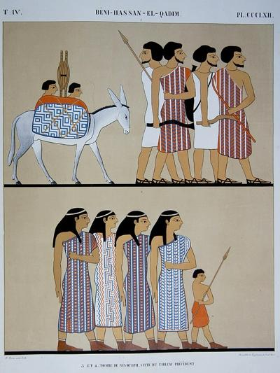 Fresco of the Tomb of Nevothph at Beni-Hassan-El-Qadim-Jean Francois Champollion-Giclee Print