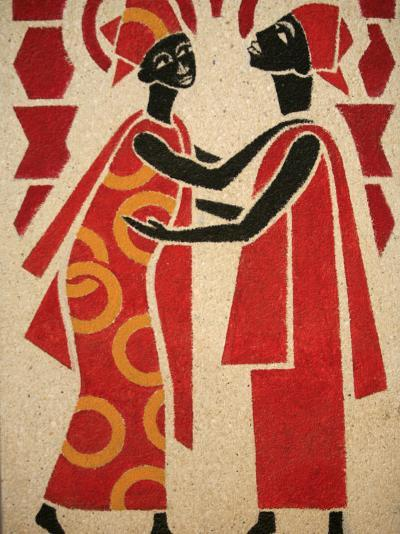 Fresco of the Visitation, Designed and Painted in 1963 by Dom Georges Saget Abbey Church-Godong-Photographic Print