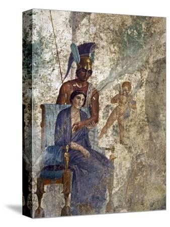 Fresco of Venus Seduced By Mars With Cupid and Maid, House of Punished Love From Pompeii
