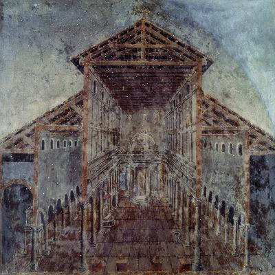 Fresco with the Vatican Basilica, Vatican Library, Vatican City, Early Christian Period--Giclee Print