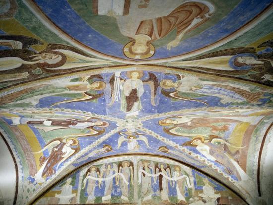 Frescoed Stone Cross--Giclee Print