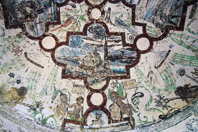 Frescoes, Domeyrat Castle--Giclee Print