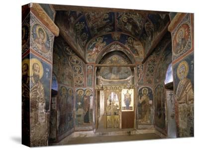 Frescoes from Section Facing Apse, Byzantine Church of Our Lady of Asinou--Stretched Canvas Print