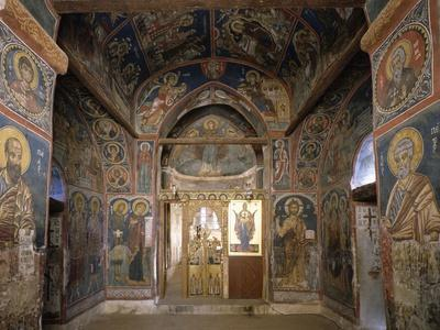 Frescoes from Section Facing Apse, Byzantine Church of Our Lady of Asinou--Giclee Print