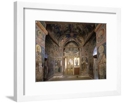 Frescoes from Section Facing Apse, Byzantine Church of Our Lady of Asinou--Framed Giclee Print