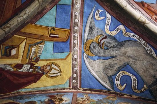 Frescoes in St George Chapel, Basilica of St Romedius--Giclee Print