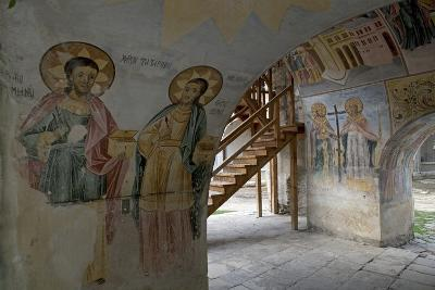 Frescoes in the Narthex of the Holy Mother of God Church (Sveta Bogorodica)--Photographic Print