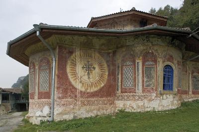 Frescoes on the Facade of the Church of the Transfiguration Monastery (Preobrazenski Manastir)--Photographic Print