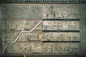 Frescos Depicting the Book of Amduat, the Journey of the Solar Boat, on Burial Chambers East Wall
