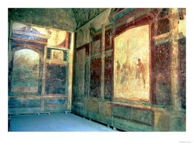 Frescos in the Tablinium, House of Livia, 1st Century AD--Giclee Print
