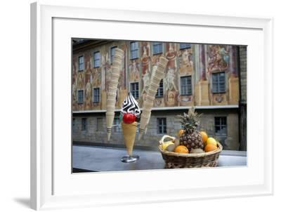 Frescos on Old Town Hall in Bamburg, Germany-Dave Bartruff-Framed Photographic Print