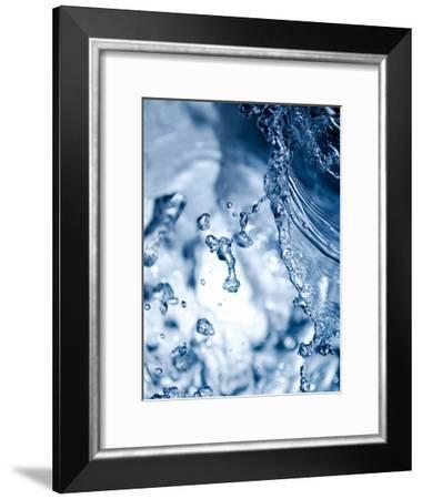 Fresh Abstract Closeup Water Waterdrops-Grab My Art-Framed Art Print