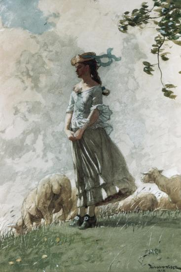 Fresh Air-Winslow Homer-Stretched Canvas Print