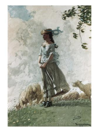 Fresh Air-Winslow Homer-Premium Giclee Print