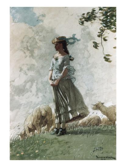Fresh Air-Winslow Homer-Premium Giclee Print