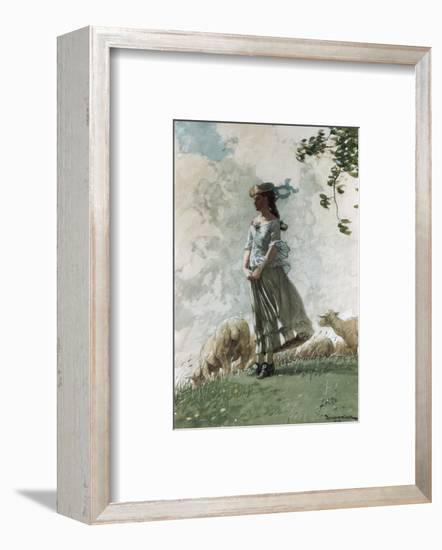 Fresh Air-Winslow Homer-Framed Premium Giclee Print