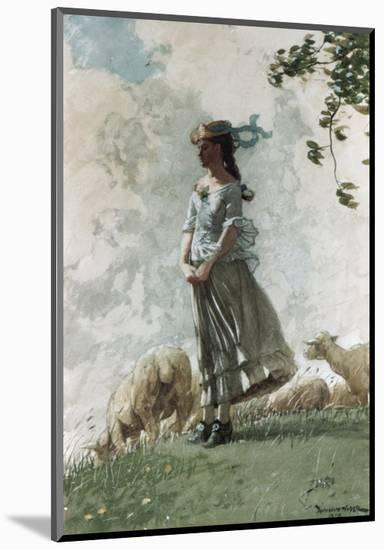 Fresh Air-Winslow Homer-Mounted Premium Giclee Print