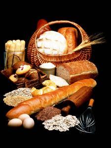 Fresh Bread in Picnic Basket
