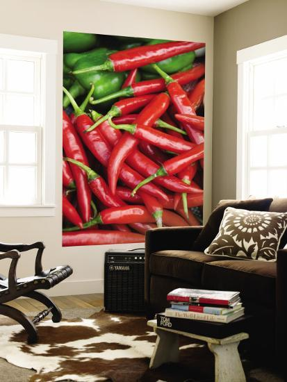Fresh Chillies for Sale at Psar Nat Market-Rachel Lewis-Wall Mural