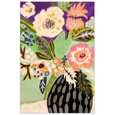 Fresh Flowers in Vase I - Free Floating Tempered Glass Wall Art