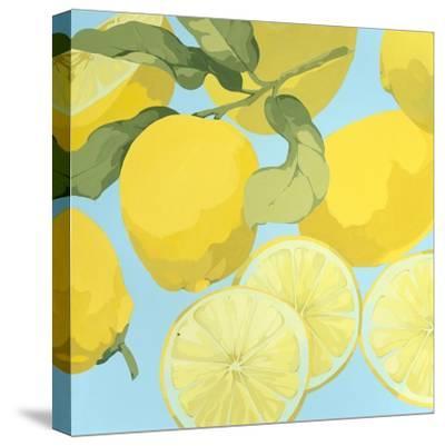 Fresh Lemons-Martha Negley-Stretched Canvas Print