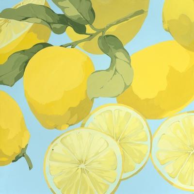 Fresh Lemons-Martha Negley-Premium Giclee Print