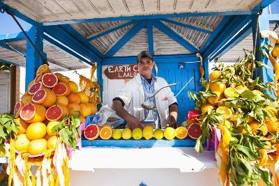 Fresh Orange Juice Vendor, Essaouira, Formerly Mogador, Morocco, North Africa, Africa-Matthew Williams-Ellis-Photographic Print