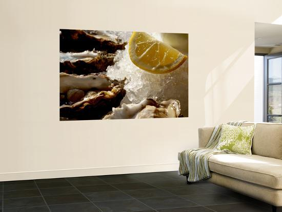 Fresh Oysters on the Half Shell at Bayswater Brasserie, Kings Cross-Holger Leue-Wall Mural