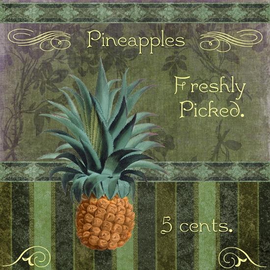 Fresh Pineapples-Mindy Sommers-Giclee Print