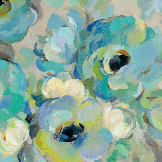 Fresh Teal Flowers III-Silvia Vassileva-Art Print