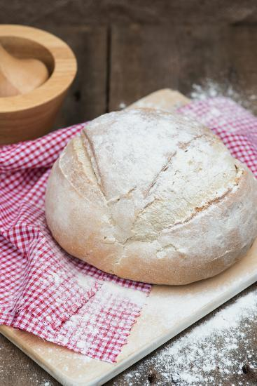 Freshly Baked French Pain De Campagne Loaf of Bread-Veneratio-Photographic Print