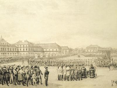 Freshman Ceremony, Saski Square, Warsaw, Poland--Giclee Print
