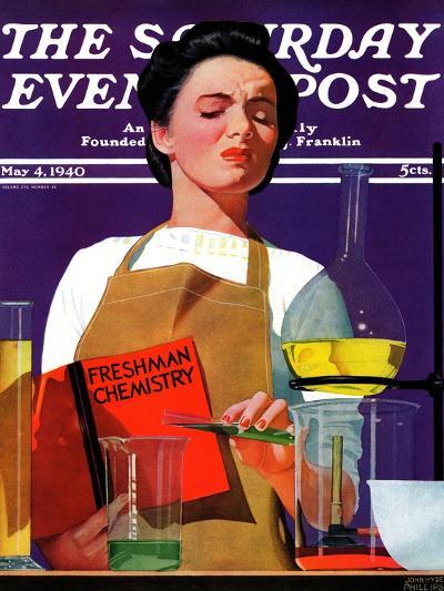 """Freshmen Chemistry,"" Saturday Evening Post Cover, May 4, 1940-John Hyde Phillips-Giclee Print"