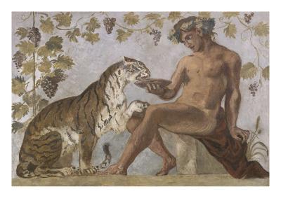 Fresque : Bacchus-Eugene Delacroix-Giclee Print