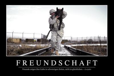 Freundschaft: Motivationsposter Mit Inspirierendem Zitat