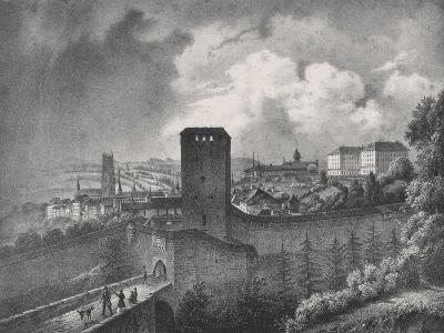 Fribourg in Switzerland, View of the Porte De Morat--Giclee Print