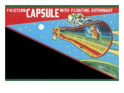 Friction Capsule with Floating Astronaut--Art Print