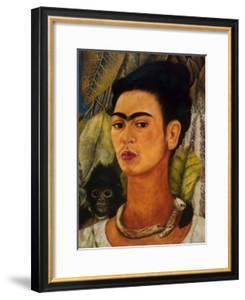 Notable Women Artists - Frida Kahlo - Self-Portrait with Monkey by Frida Kahlo