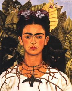 Portrait with Necklace by Frida Kahlo