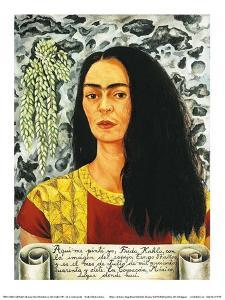 Self-Portait with Loose Hair, c.1947 by Frida Kahlo