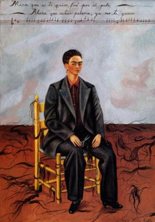 Self-Portrait with Cropped Hair, 1940 by Frida Kahlo
