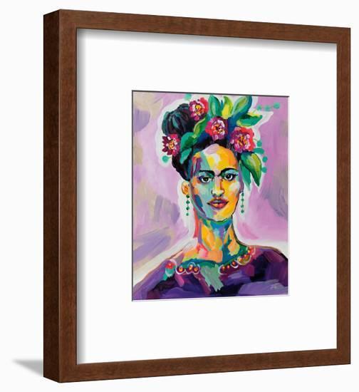 Frida v2-Jeanette Vertentes-Framed Art Print