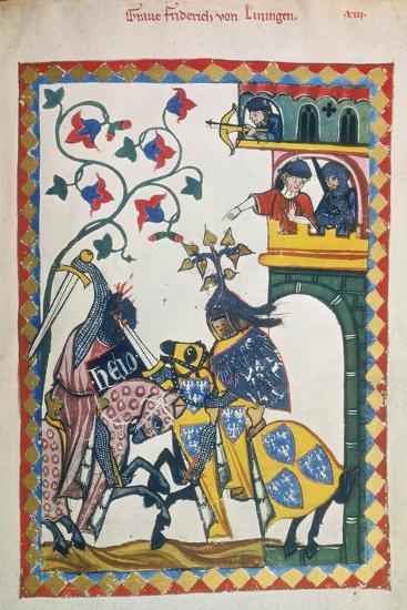 Friderich Von Leiningen-Heidelberger Lieder-Handschrift-Giclee Print