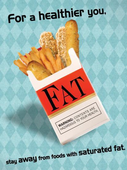 Fried Food Hazard Poster Laminated Poster by | Art com