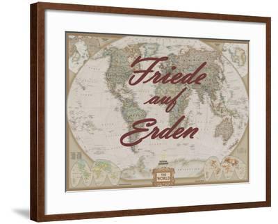 Friede auf Erden-National Geographic Maps-Framed Art Print