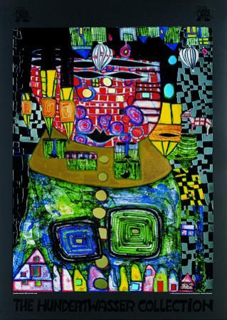 Antipode King by Friedensreich Hundertwasser