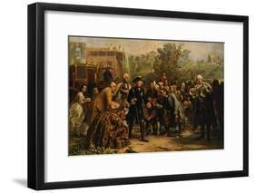 'Friedrich der Große auf-Adolph Friedrich Erdmann von Menzel-Framed Giclee Print