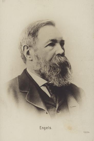 Friedrich Engels (1820-1895), German Political Theorist, Social Scientist and Writer--Photographic Print