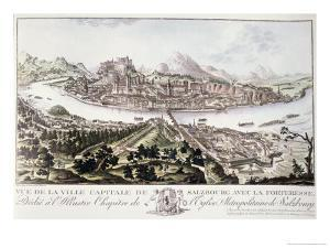 View of the Capital City and Fortress of Salzburg by Friedrich Gotthard Naumann