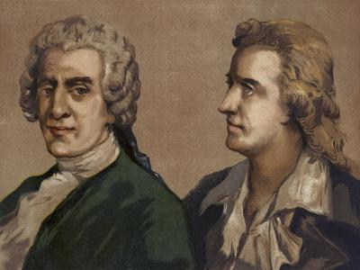Friedrich Gottlieb Klopstock and Friedrich Schiller, German Poets--Giclee Print